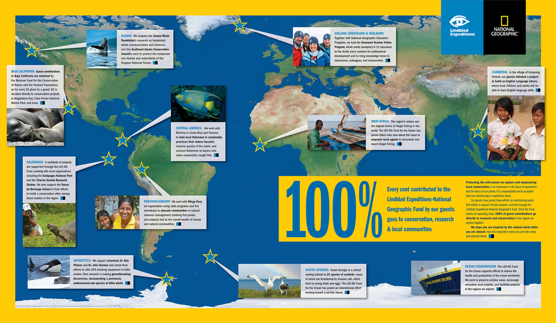 100% Poster designed for LIndblad Expeditions and National Geographic